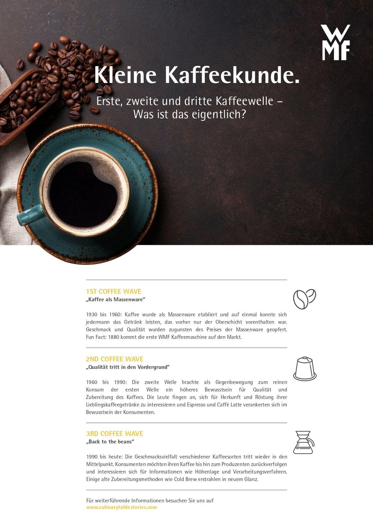 Wmf Kleine Kaffeekunde Erste Zweite Und Dritte Kaffeewelle Page 0001