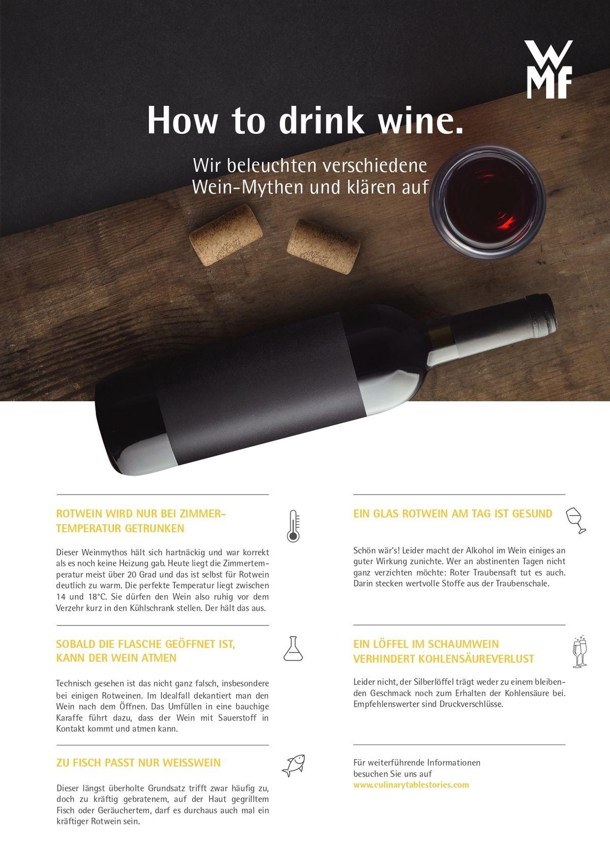 Wmf Weinmythen Wir Beleuchten Verschiedene Wein Mythen Und Klären Auf