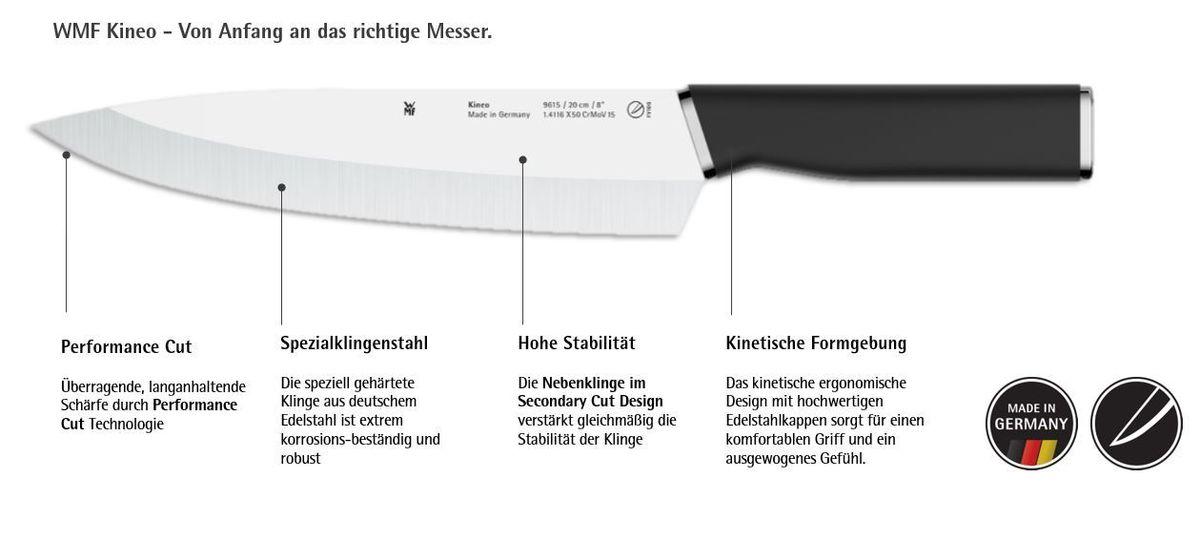 Grafik Messer Kineo Neu